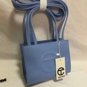 Telfar Small Dark Blue Shopping Bag